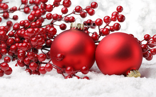 ornaments, decoration, cherry, balls, Christmas, рождество, new year, шары