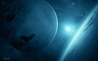 light, Planet blue, 2, sci fi, two