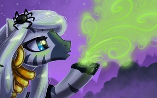 halloween, zecora, пони, kp-shadowsquirrel, паук, порошок, My little pony, автор