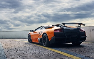 ламборгини, Lamborghini, мурсиэлаго, orange, murcielago, lp670-4 sv