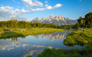 вайоминг, горы, wyoming, озеро, гранд-титон, Grand teton national park