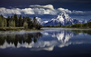 snake river, река снейк, wyoming, grand teton national park, Mount moran